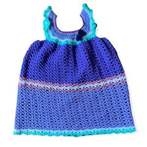 HANDCRAFTED   Hand knitted sleeveless dress